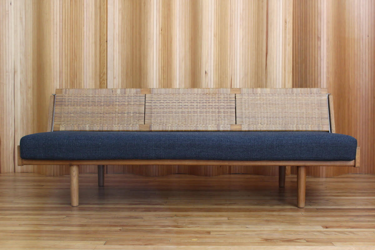 Mid century classic Daybed by Hans Wegner, reupholstered by Irvines Upholstery Edinburgh